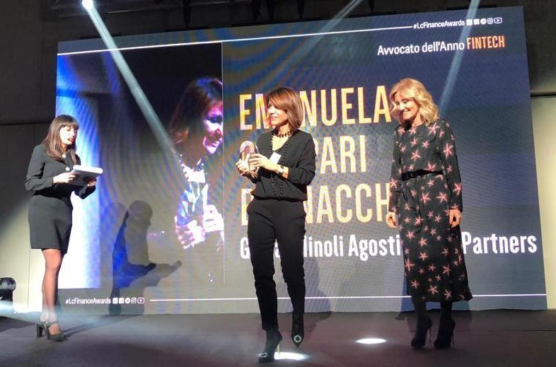 Emanuela Campari Bernacchi è l'Avvocato Fintechdell'anno